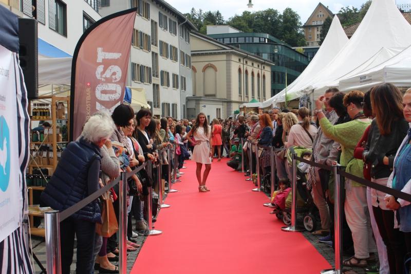 Hier präsentierte favorite fair ihre vegane, biologische und fair gehandelte aktuelle Mode. (Foto: Swissveg)